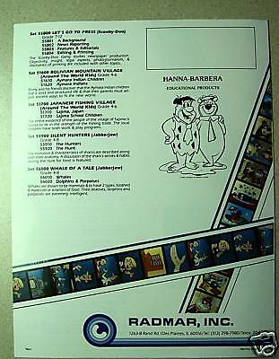 HANNA-BARBERA Filmstrip Set Scooby-Doo Film NEW Black Explorers education