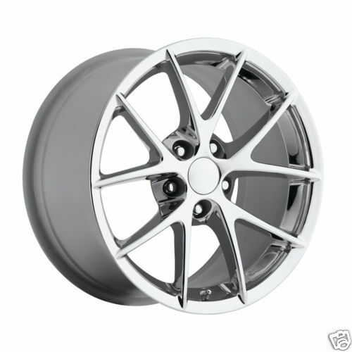 2009 C6 Z06 Spyder Chrome ZO6 Chevy Corvette Spider Wheels Rims