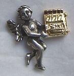 Slot Machine Angel pin
