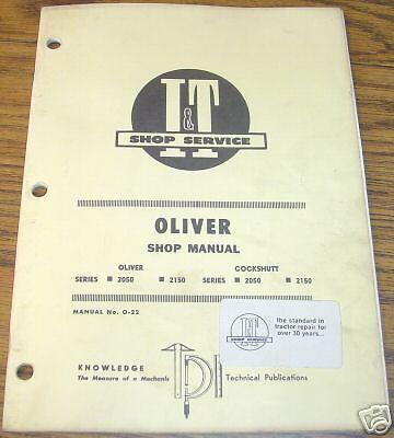 Oliver 2050 & 2150 Tractor I&T Shop Service Manual book