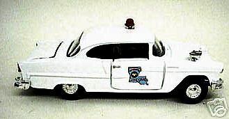 1955 CHEVY BEL AIR POLICE CAR 143rd/ O SCALE DIE CAST