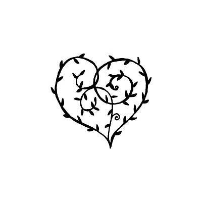 Penny Black amor Rubber stamp Valentines heart